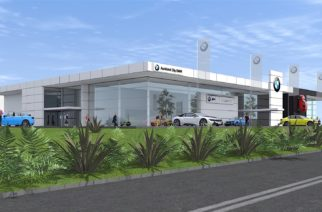 DEVELOPMENT: A concept drawing for the new BMW dealership site on Te Irirangi Drive. Photo supplied.