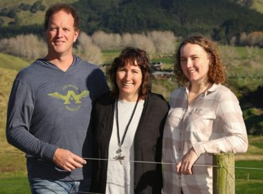 Left to right: Andrew & Liisa Hamilton with their eldest daughter, Gwen