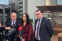 (left to right) Business Advisory Council Chair Christopher Luxon, Prime Minister Jacinda Ardern and Finance Minister Grant Robertson. Photo Twitter