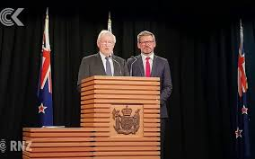 Former Prime Minister Jim Bolger (left) and Minister of Workplace Relations Iain Lees-Galloway. Photo RadioNZ