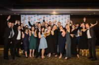 The Unleashed Software team - the winning business of the Supreme Business Excellence Award – alongside event partners and sponsors.