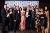 The Augusto Group team - the winning business of the Supreme Business Excellence Award – alongside event partners and sponsors.