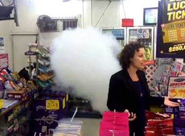 The fog cannon scheme has a marked impact on the safety of workers in retail premises. Photo fogcannon.co.nz