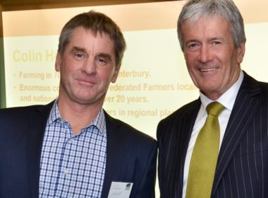 Federated Farmers new Arable Industry Group chair, Colin Hurst (left) with Agriculture Minister, Damien O'Connor.
