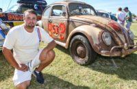 Lewis Frayne with one of his Herbie replicas - Photo Wayne Martin