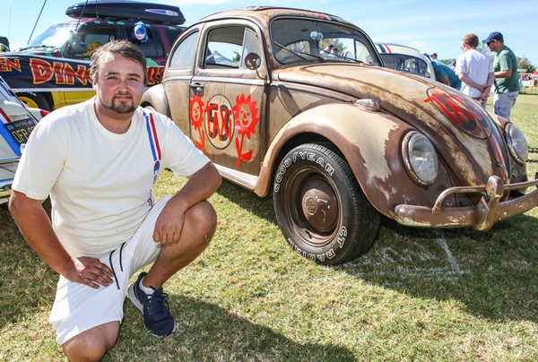 Lewis Frayne with one of his Herbie replicas - Photo Wayne Martin
